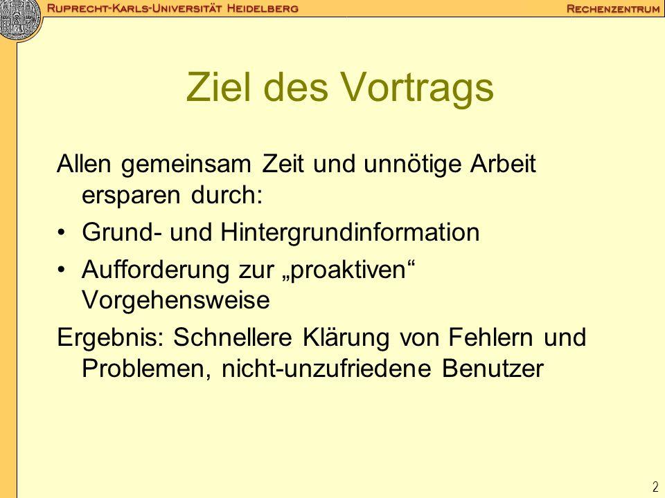 23 2.3 URZ-Dienste Nameservice: 129.206.100.126 und.127, auch für Institute Proxy: www-proxy.uni-heidelberg.de (8080) Mail (pop, imap, smtp): popix.urz, neu: instmail SMTP-Relay: relay.uni-heidelberg.de ftp-, news-Server Fileserver: Dateisystem AFS, login (aixterm...