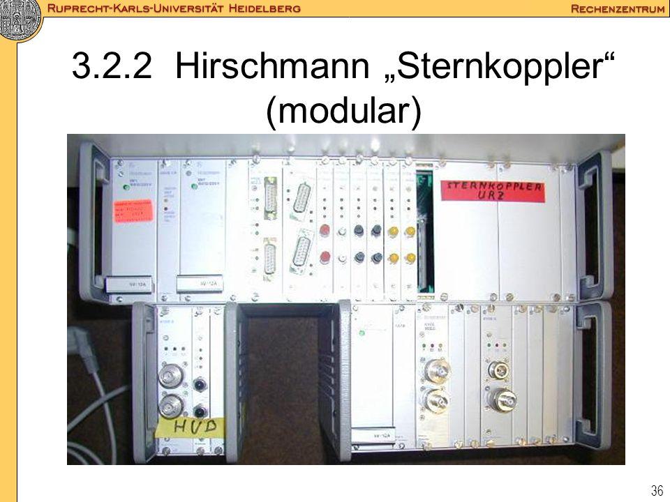 """36 3.2.2 Hirschmann """"Sternkoppler"""" (modular)"""