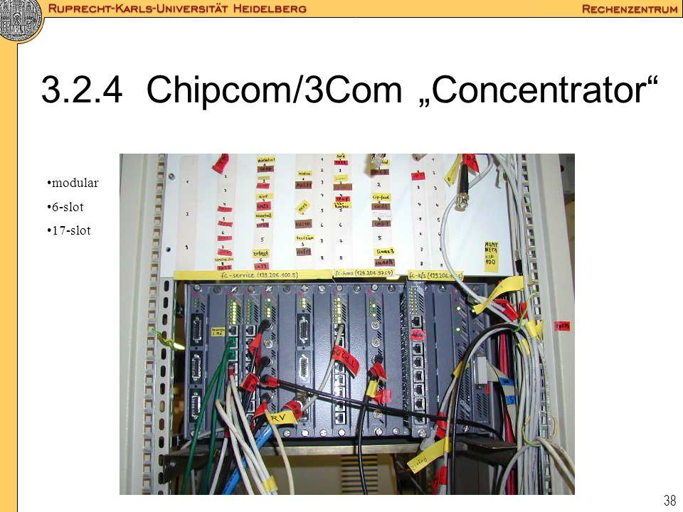 """38 3.2.4 Chipcom/3Com """"Concentrator"""" modular 6-slot 17-slot"""