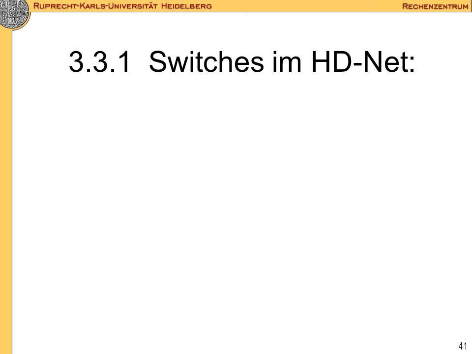 41 3.3.1 Switches im HD-Net: