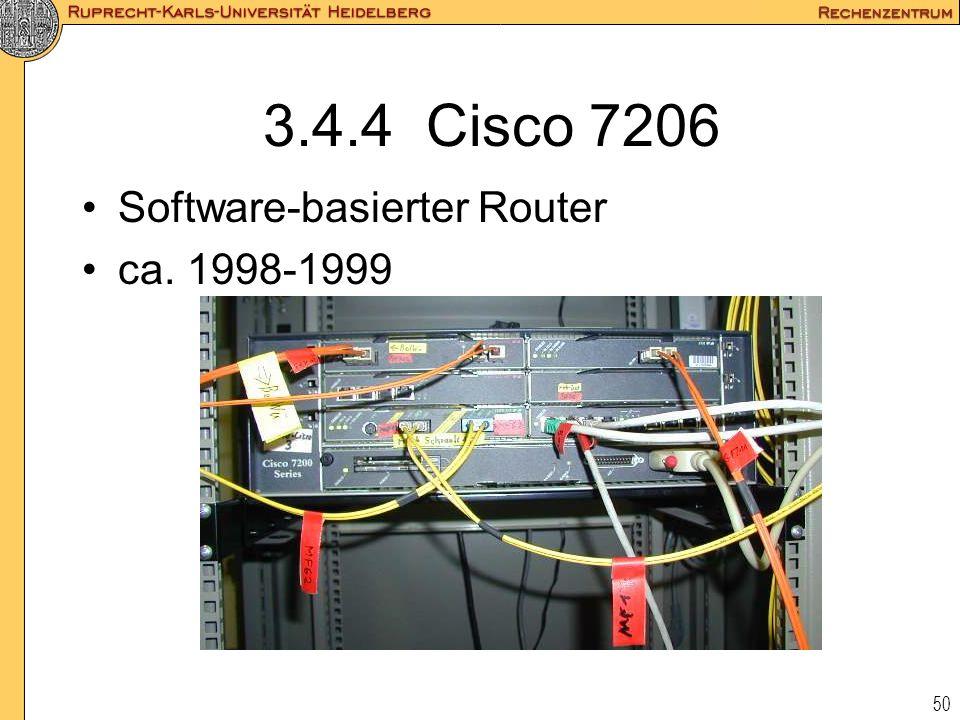 50 3.4.4 Cisco 7206 Software-basierter Router ca. 1998-1999