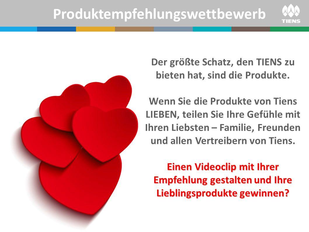 Der größte Schatz, den TIENS zu bieten hat, sind die Produkte.