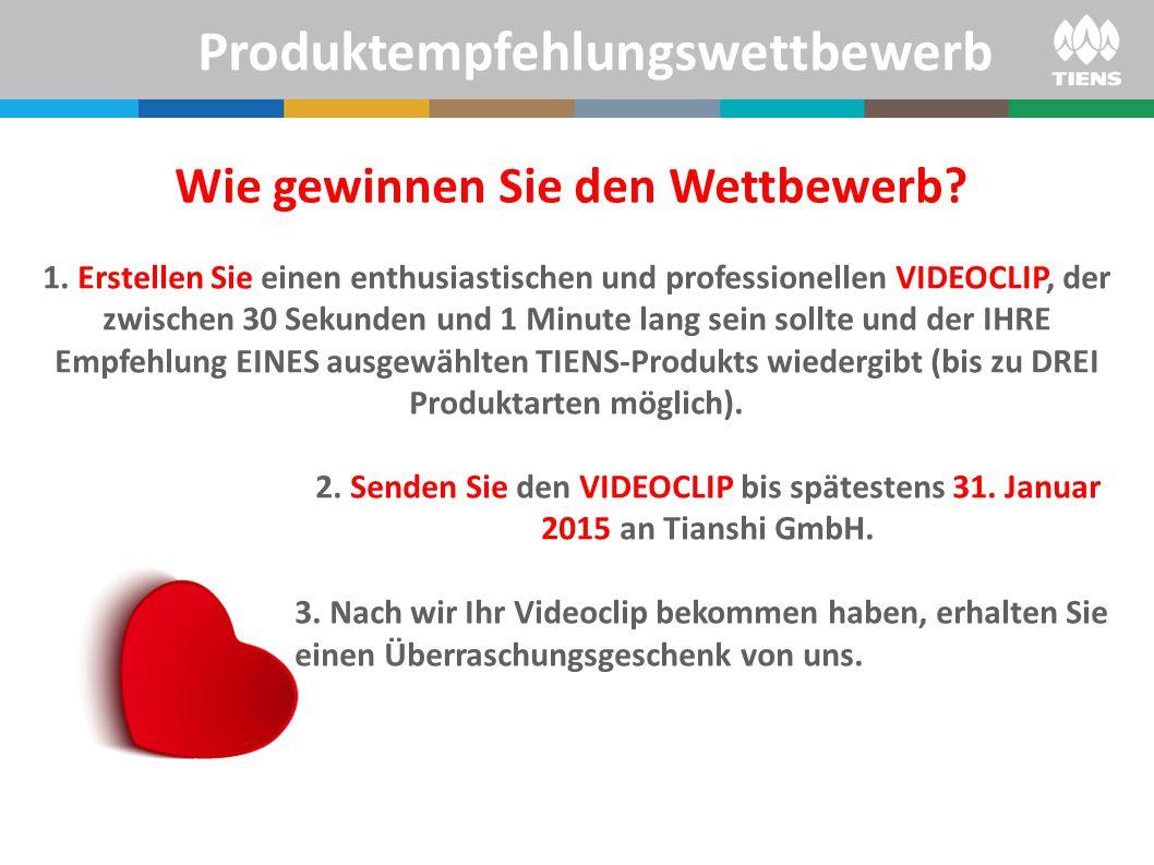 1.Ihr VIDEOCLIP nimmt am Wettbewerb um den BESTEN VIDEOCLIP in der Region Europa teil.