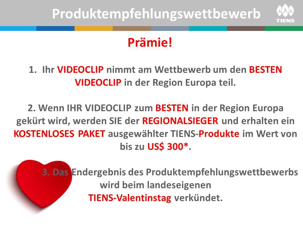 1.Ihr VIDEOCLIP nimmt am Wettbewerb um den BESTEN VIDEOCLIP in der Region Europa teil. 2. Wenn IHR VIDEOCLIP zum BESTEN in der Region Europa gekürt wi