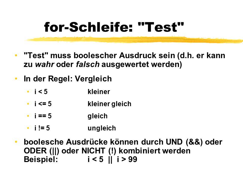 for-Schleife: