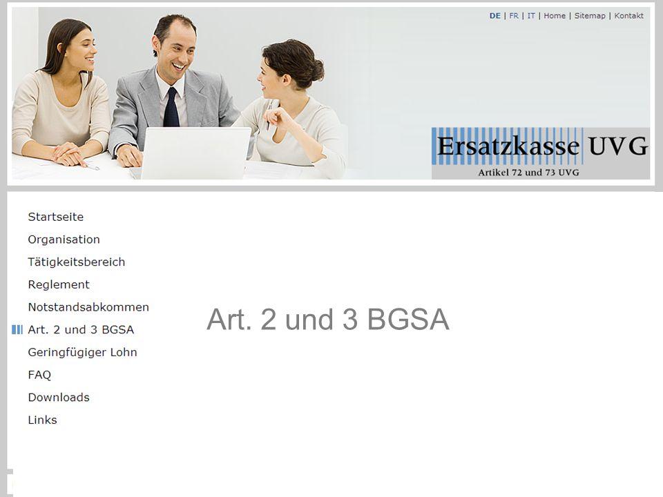 Art. 2 und 3 BGSA