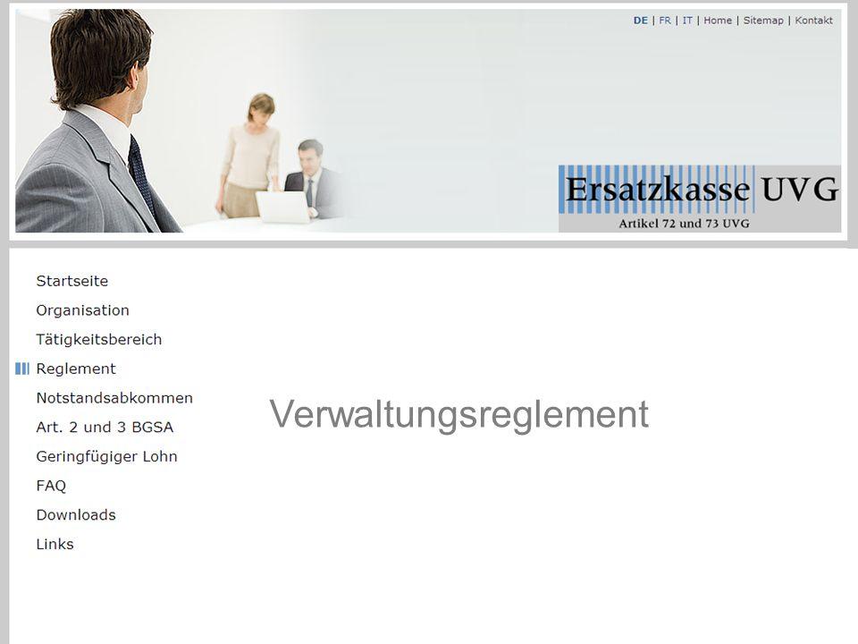 Verwaltungsreglement