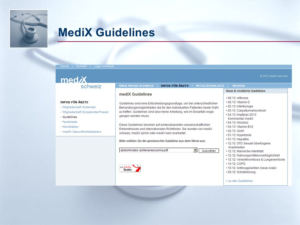 MediX Guidelines