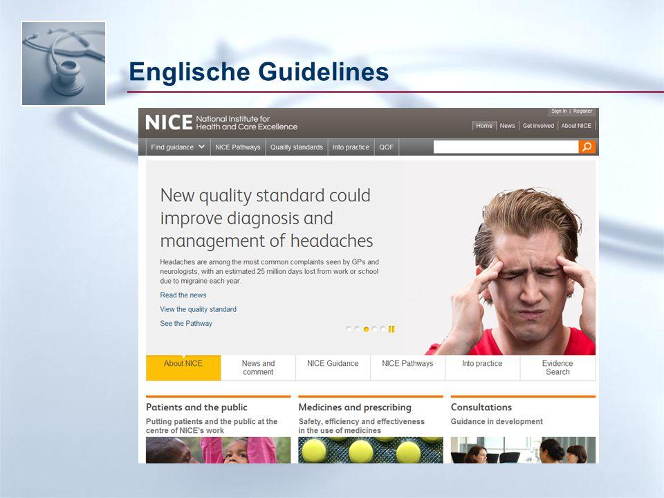Englische Guidelines