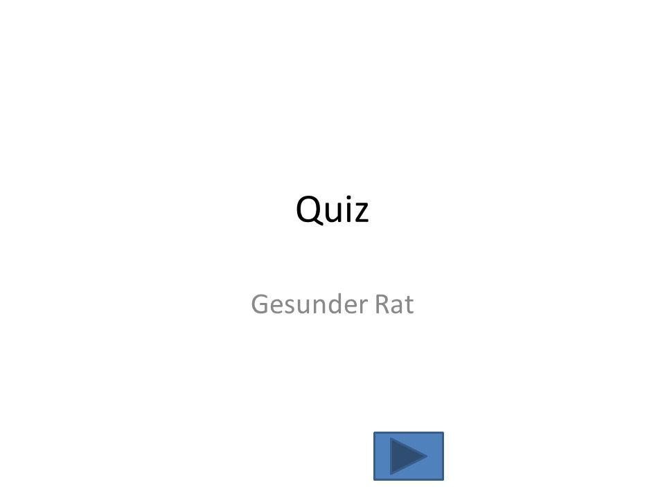 Quiz Gesunder Rat