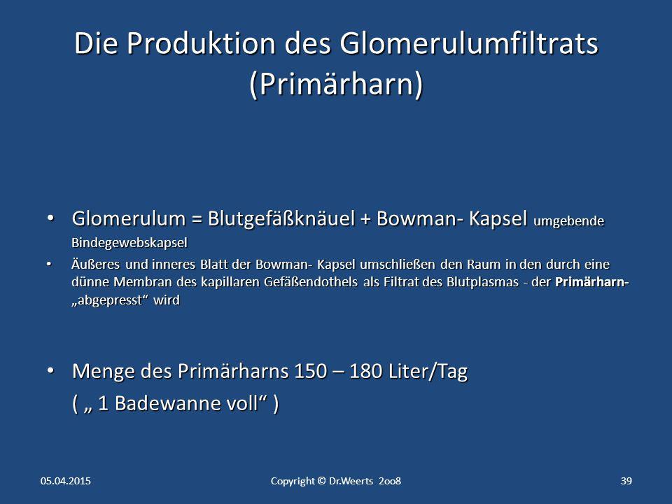 05.04.2015Copyright © Dr.Weerts 2oo838 HarnröhreMann