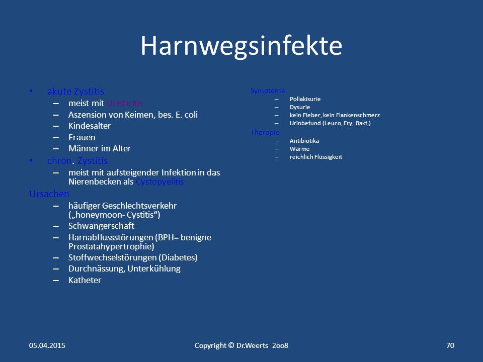 Krankheiten der Nieren und ableitenden Harnwege 05.04.2015Copyright © Dr.Weerts 2oo869
