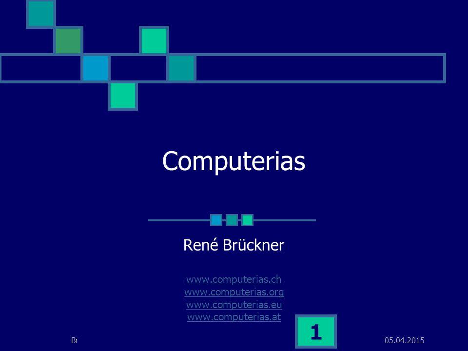 05.04.2015Br 2 Was ist eine Computeria Der Name Computeria setzt sich zusammen aus Computer und Cafeteria .