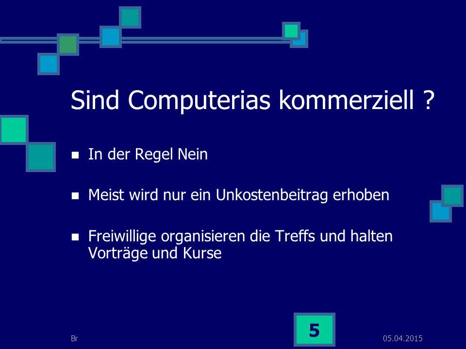 05.04.2015Br 16 Voraussetzungen (Material) Raum Laptop Beamer (von Vorteil) PC´s (wenn Schulung erteilt wird) Internetanschluss