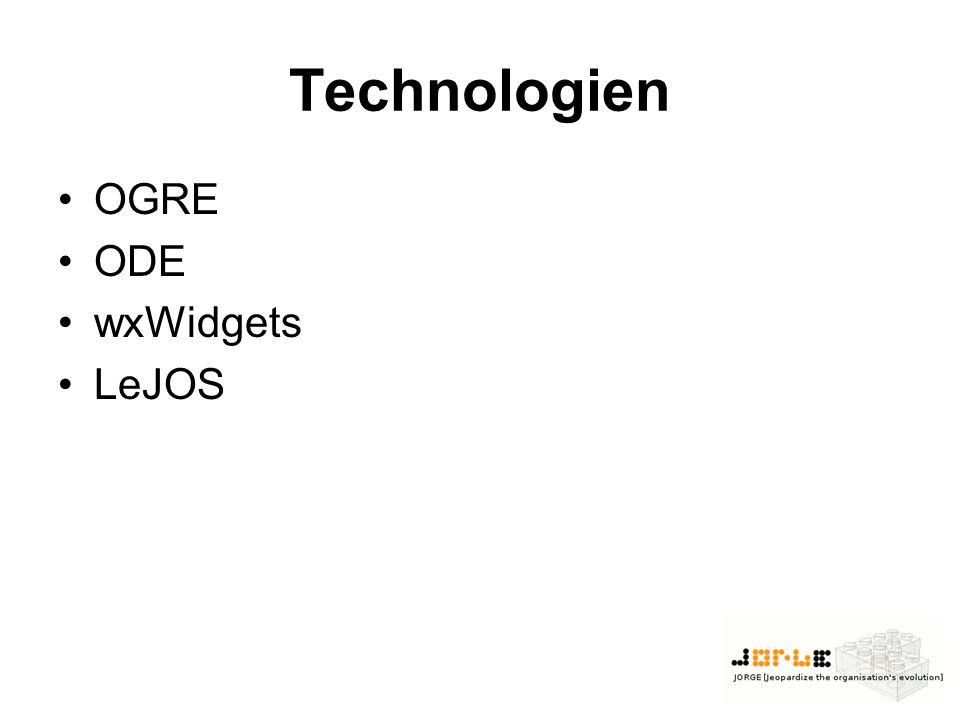 Technologien OGRE ODE wxWidgets LeJOS