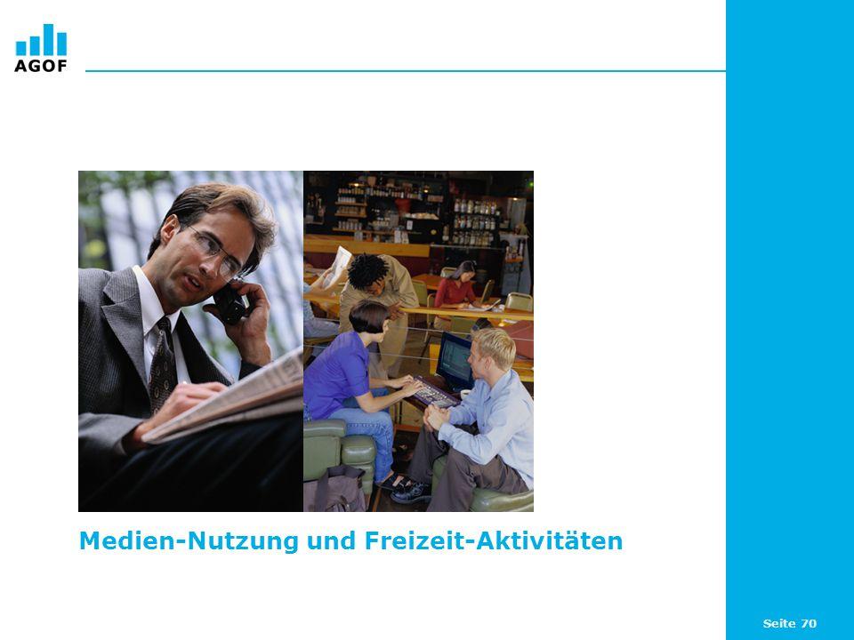 Seite 70 Medien-Nutzung und Freizeit-Aktivitäten