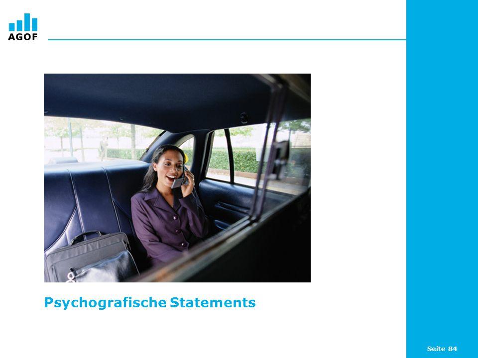 Seite 84 Psychografische Statements