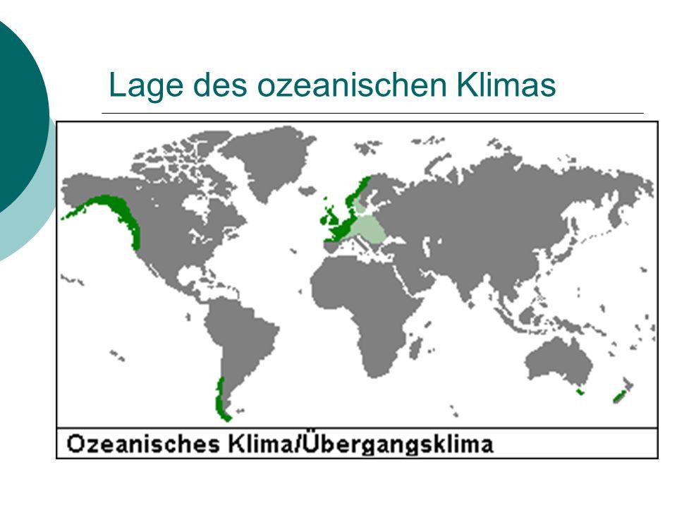 Lage des ozeanischen Klimas