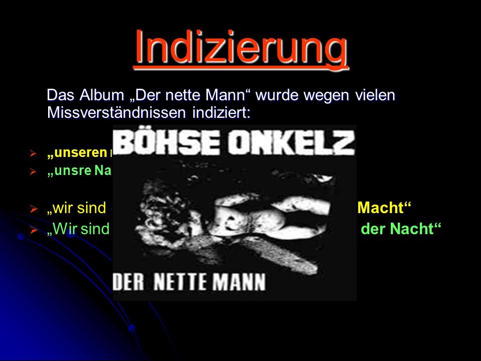 """Indizierung Das Album """"Der nette Mann"""" wurde wegen vielen Missverständnissen indiziert: Das Album """"Der nette Mann"""" wurde wegen vielen Missverständniss"""