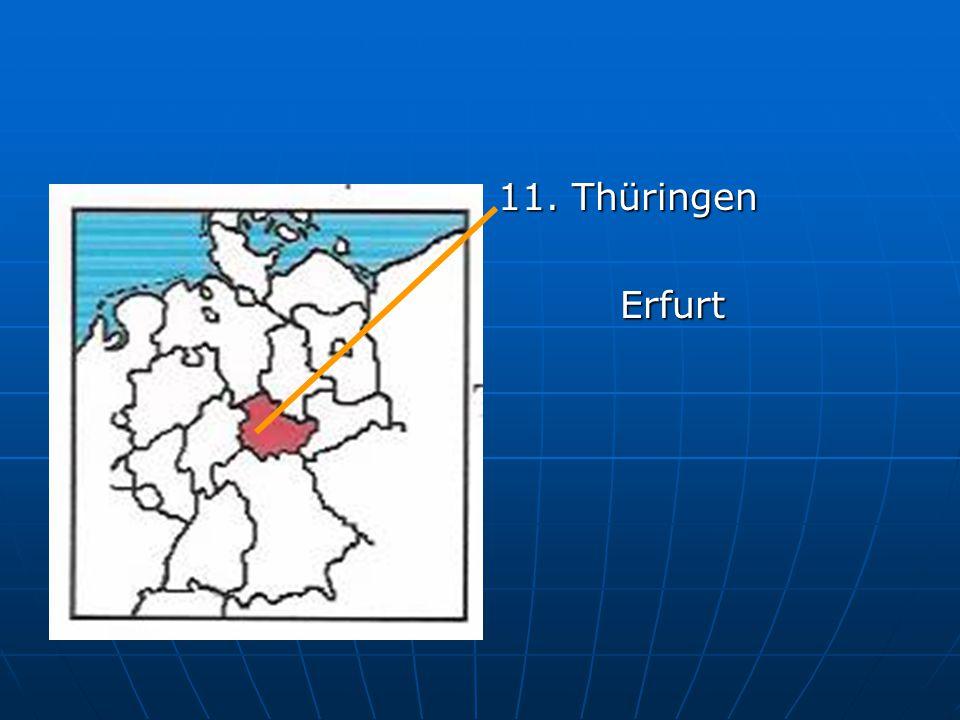 11. Thüringen Erfurt Erfurt