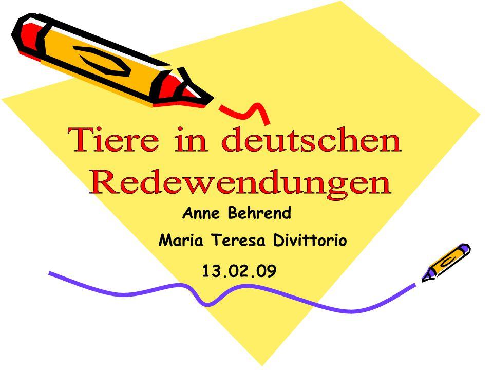 Anne Behrend Maria Teresa Divittorio 13.02.09