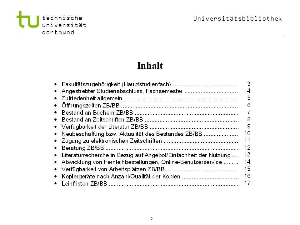 Universitätsbibliothek technische universität dortmund Inhalt 2