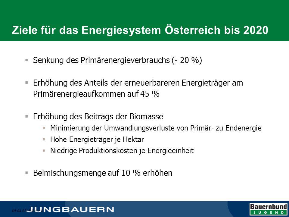 05.04.2015 /Folie 7 Biogene Kraftstoffe  Günstigere Klima- und CO 2 -Bilanz  Produktionsalternativen für die Landwirtschaft  Biomasse als wirtschaftlicher Faktor im ländlichen Raum  Schaffung von Arbeitsplätzen  Unabhängiger von Importen