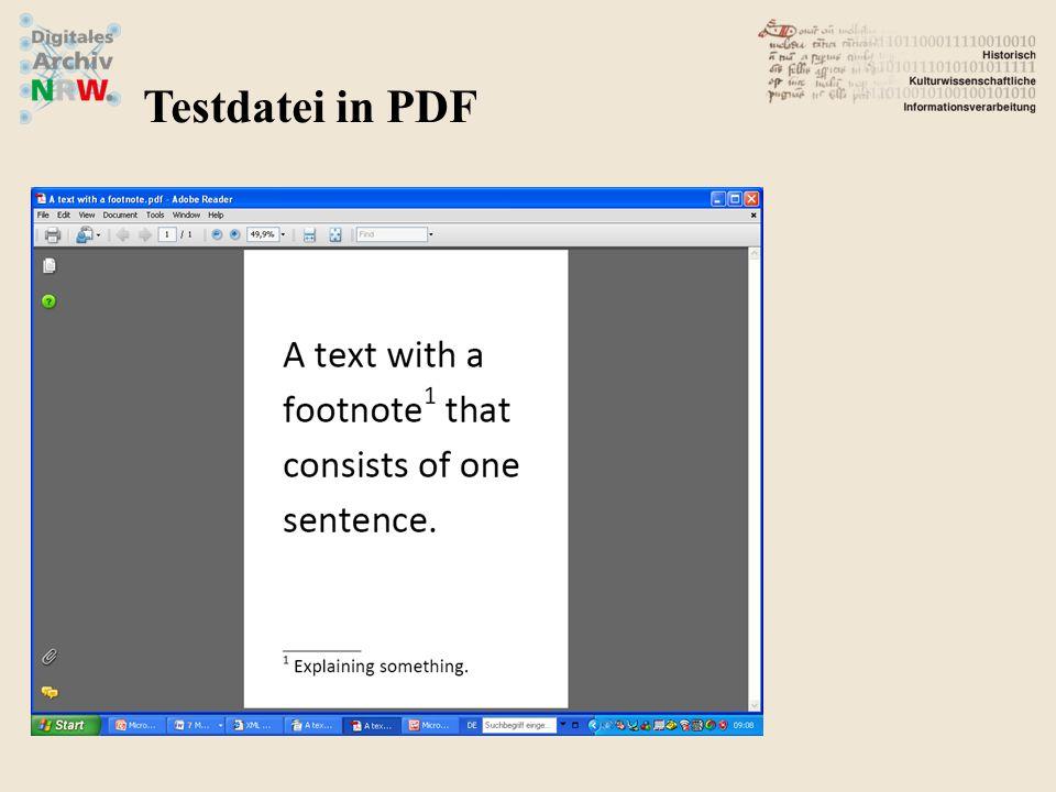 Testdatei in PDF