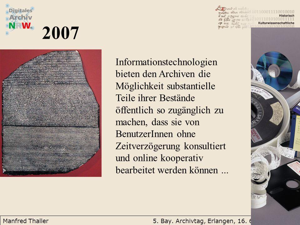 Manfred Thaller5. Bay. Archivtag, Erlangen, 16.