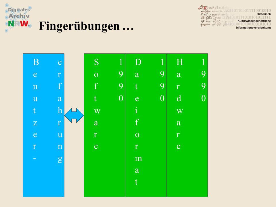 Fingerübungen …