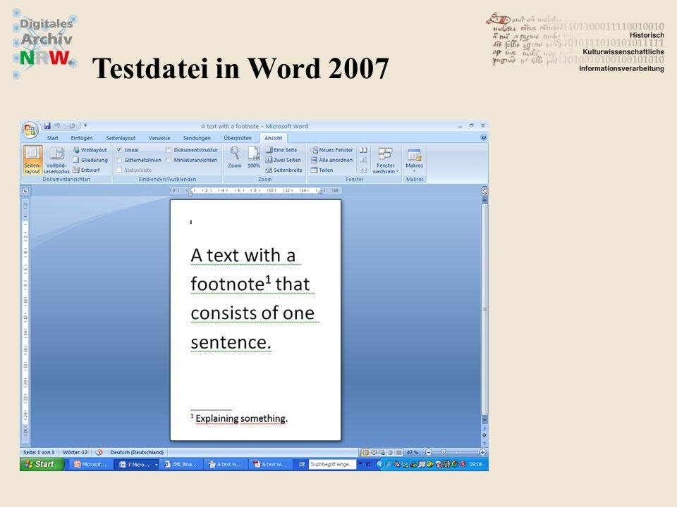 Testdatei in Open Office ODT