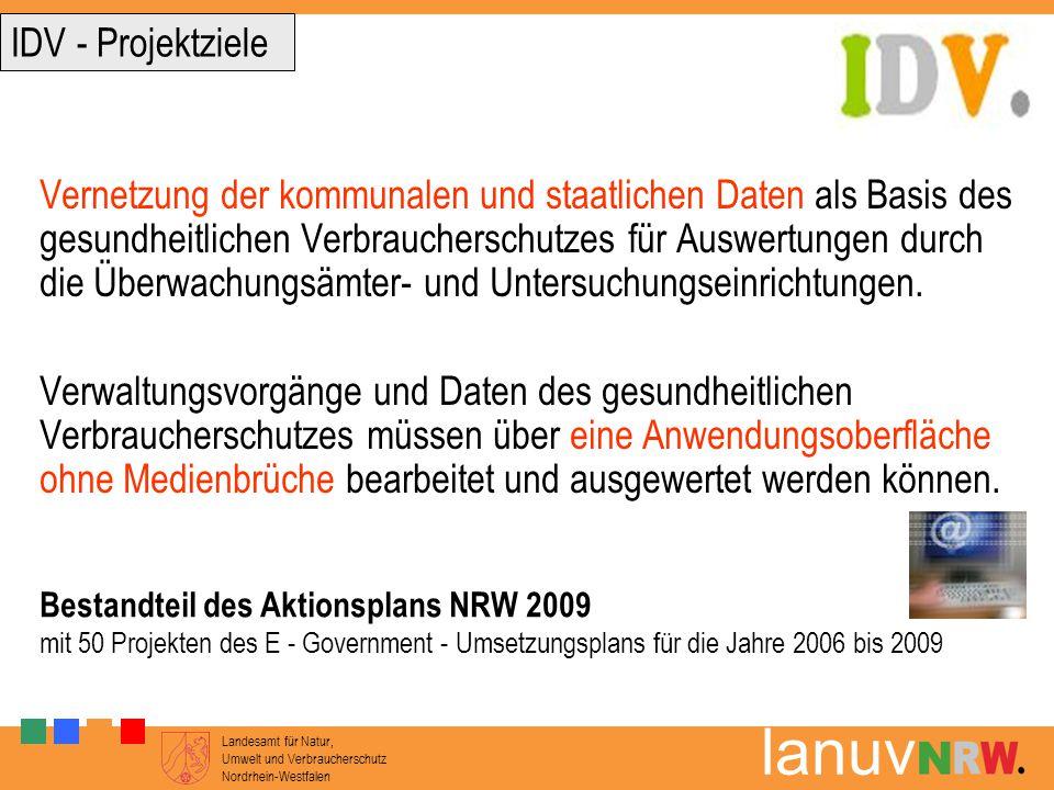 Landesamt für Natur, Umwelt und Verbraucherschutz Nordrhein-Westfalen lanuv Vernetzung der kommunalen und staatlichen Daten als Basis des gesundheitli