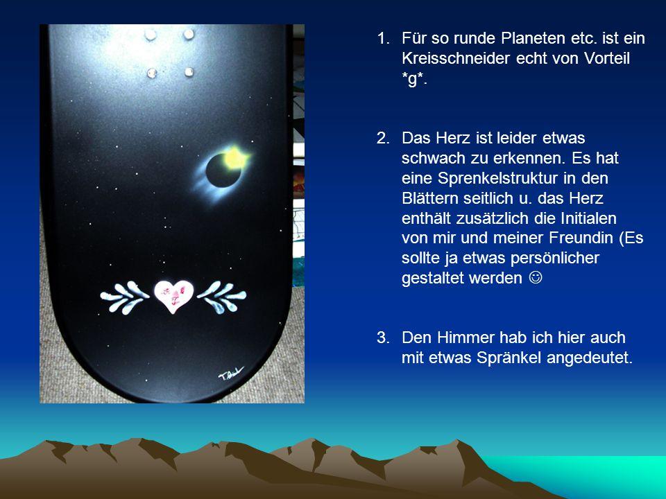 1.Für so runde Planeten etc. ist ein Kreisschneider echt von Vorteil *g*.
