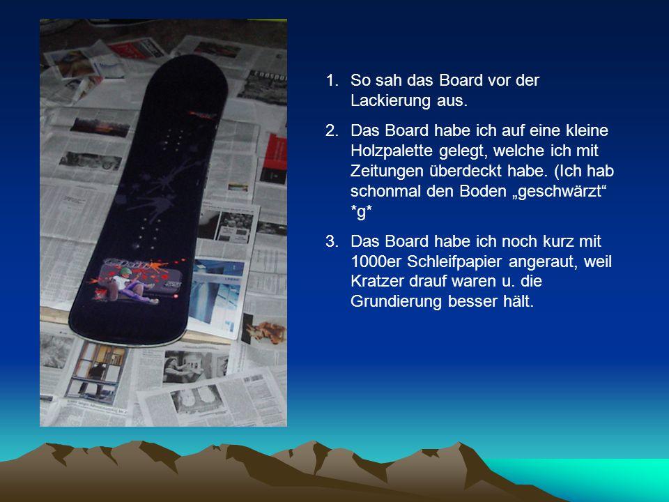 1.So sah das Board vor der Lackierung aus.