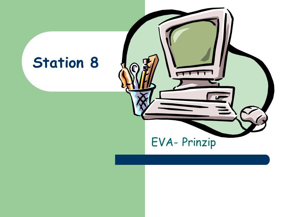 Station 8 EVA- Prinzip