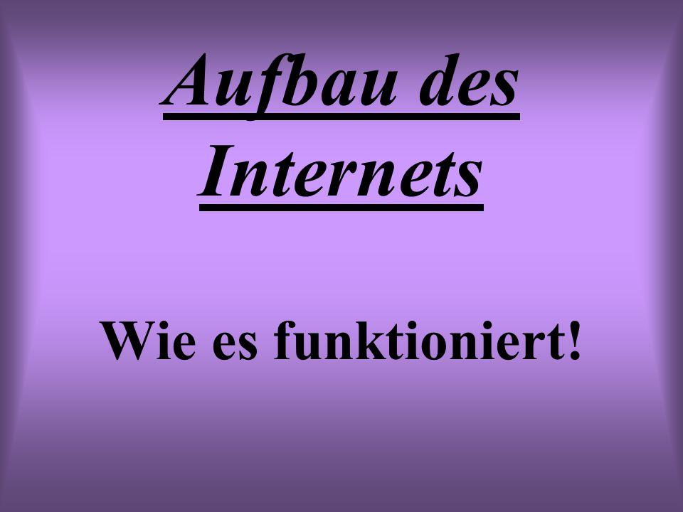 Aufbau des Internets Wie es funktioniert!