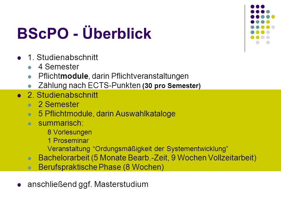 BScPO - Überblick 1.