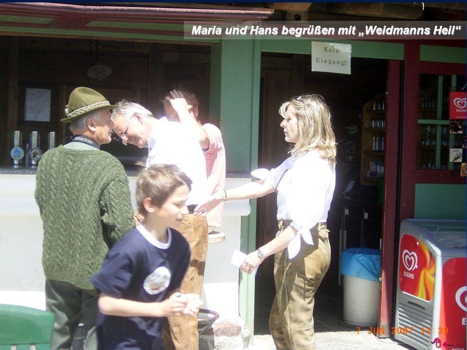 """Maria und Hans begrüßen mit """"Weidmanns Heil """