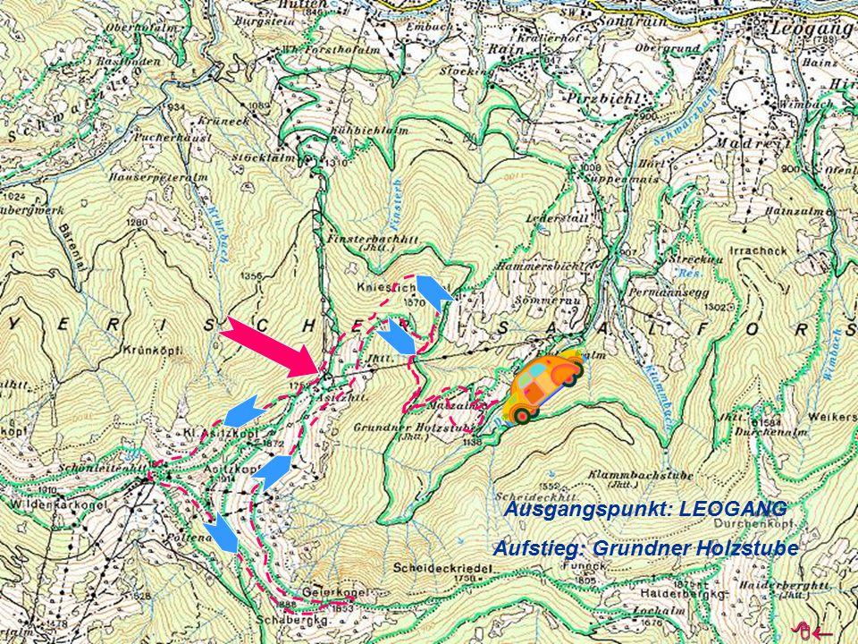Ausgangspunkt: LEOGANG Aufstieg: Grundner Holzstube 