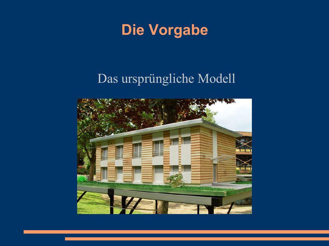 Die Vorgabe Das ursprüngliche Modell