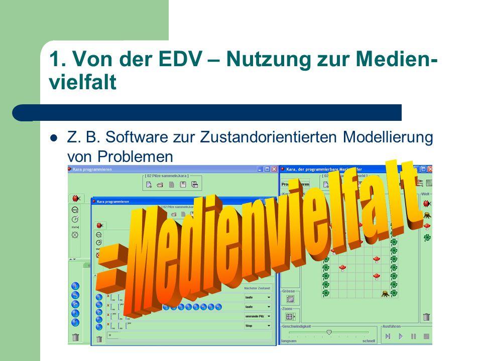 1. Von der EDV – Nutzung zur Medien- vielfalt Z. B.