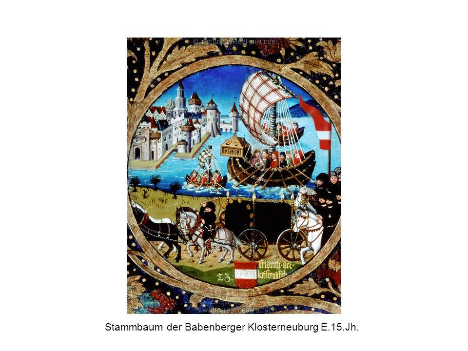 Stammbaum der Babenberger Klosterneuburg E.15.Jh.
