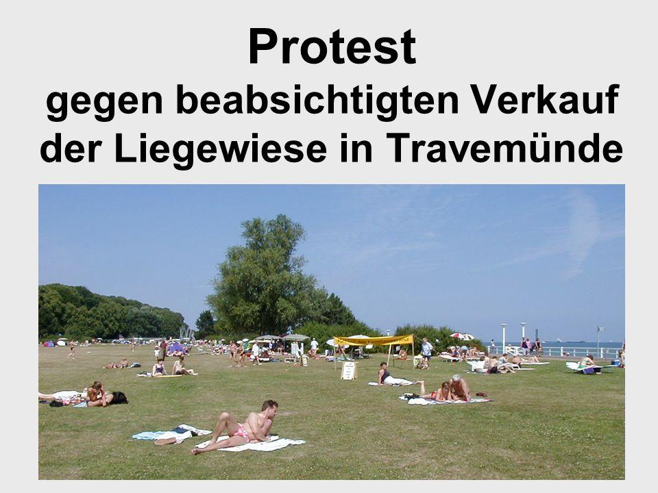 Protest gegen beabsichtigten Verkauf der Liegewiese in Travemünde