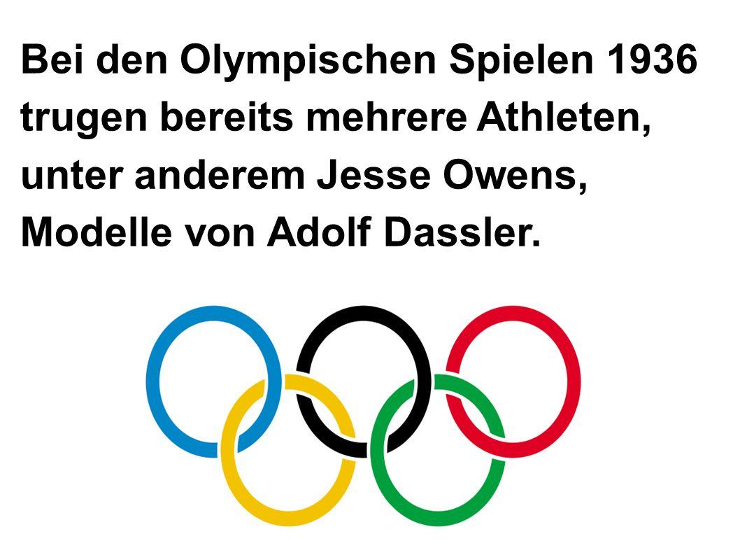 Bei den Olympischen Spielen 1936 trugen bereits mehrere Athleten, unter anderem Jesse Owens, Modelle von Adolf Dassler.
