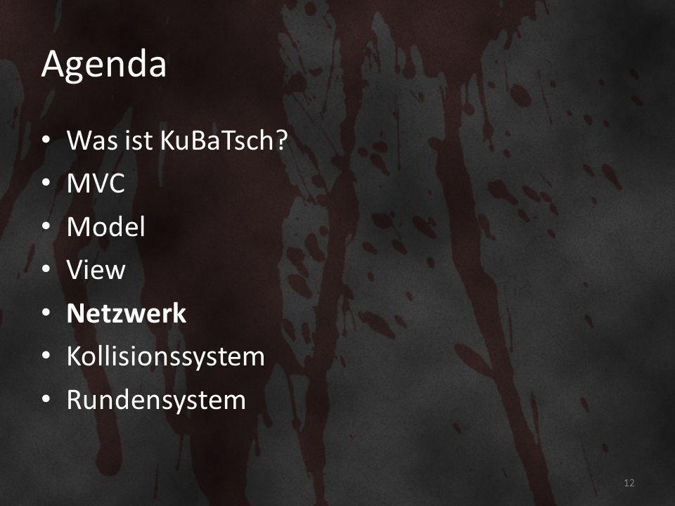 Agenda Was ist KuBaTsch MVC Model View Netzwerk Kollisionssystem Rundensystem 12