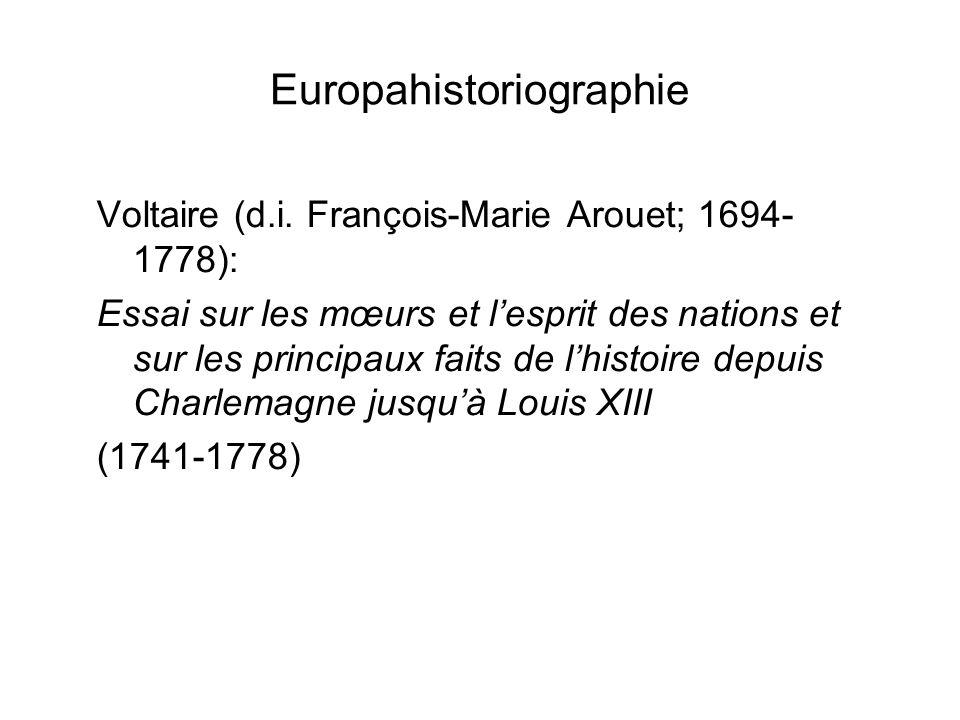 Europahistoriographie Voltaire (d.i.