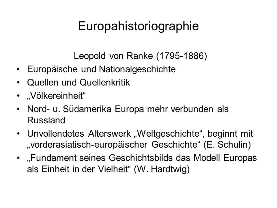 """Europahistoriographie Leopold von Ranke (1795-1886) Europäische und Nationalgeschichte Quellen und Quellenkritik """"Völkereinheit Nord- u."""
