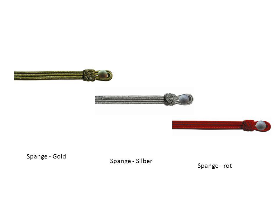 Spange - Gold Spange - Silber Spange - rot