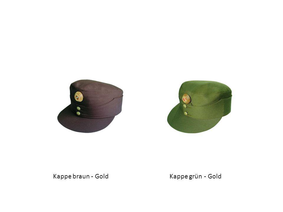 Kappe braun - GoldKappe grün - Gold