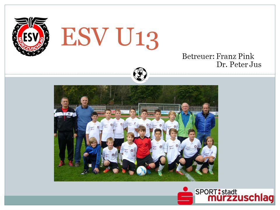 ESV U13 Betreuer: Franz Pink Dr. Peter Jus